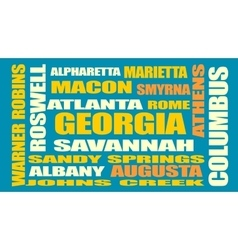 Georgia state cities list vector