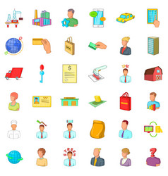 Good career icons set cartoon style vector