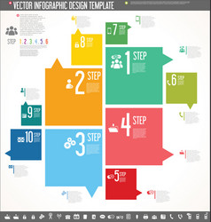 infographic design template colorful design 4 vector image vector image