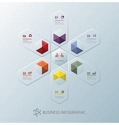 Modern fusion hexagon business infographic design vector
