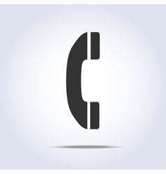 Phone handset icon vector