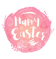 pink easter background vector image vector image