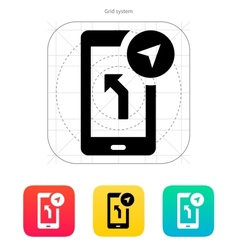 Road navigator icon vector
