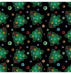 Seamless pattern from lighning sewed pines with vector image vector image