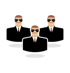 Security man icon guard bodyguards man in vector