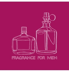 Set fragrance for men vector