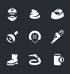Set of plumber icons vector
