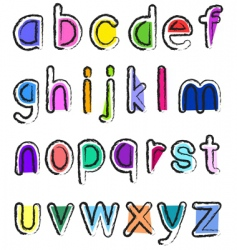 small alphabet vector image vector image