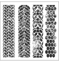 Tire tracks - set vector image vector image
