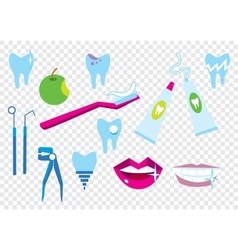 Tooth cleaning elements vector