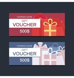 Voucher cards vector image vector image