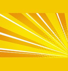 yellow orange pop art rays sunrise vector image