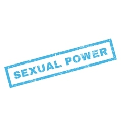 Sexual power rubber stamp vector