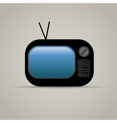Web icon of retro tv vector