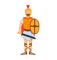 Military roman soldier character weapon armor man vector
