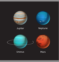 High quality solar system planet galaxy astronomy vector