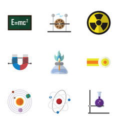 Flat icon knowledge set of attractive force vector
