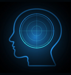 Technology future radar goal target head vector