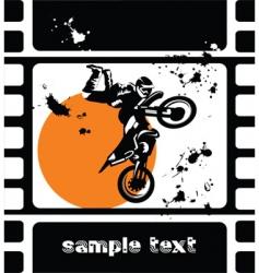 bike in the sun vector image