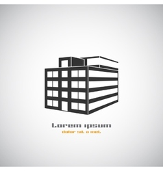 Abstract architecture building silhouette logo vector image