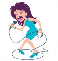 female pop singer vector image