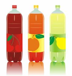 Carbonated drink bottles set vector