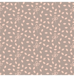 Pink and beige pastel leaves seamless pattern vector