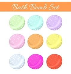 Set of bath bubble bombs vector