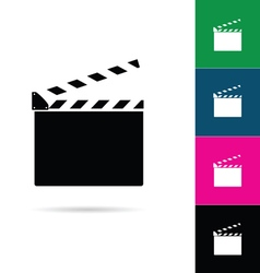 Film clapper icon vector