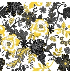 Abstract seamless pattern with isolated flowers on vector image vector image