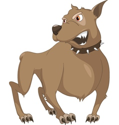 angry dog cartoon vector image vector image