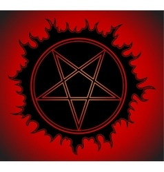 Black Pentagram icon vector image