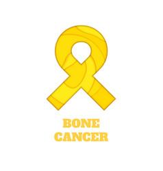 Bone cancer awareness papercut ribbon vector