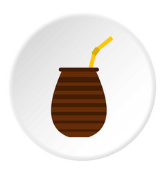Chimarrao for mate or terere icon circle vector