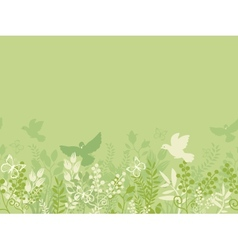 Green nature horizontal seamless pattern vector image