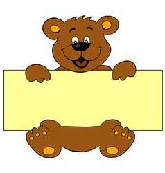Happy bear with banner vector image