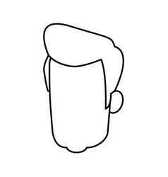 Head man male avatar character hair style vector