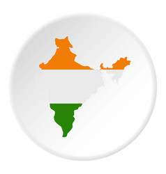 Indian map icon circle vector