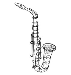 Isolated saxophone outline vector