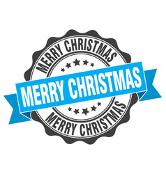 Merry christmas stamp sign seal vector