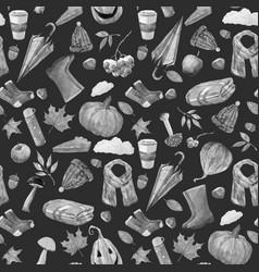 Nice autumn pattern vector