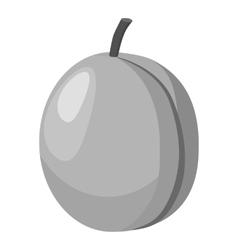 Peach icon gray monochrome style vector
