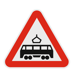 Railroad crossing icon flat style vector