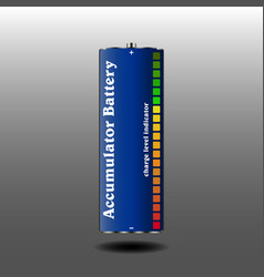 rechargeable battery with charge indicator vector image