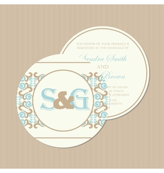 round wedding invitation vector image vector image