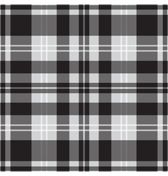 seamless black white tartan with squares stripes vector image vector image