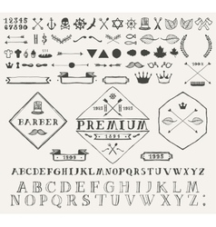 Set design elements labels Hand drawn vector image vector image