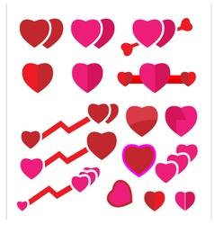 Set heart vector