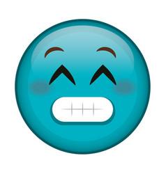 Sorry face emoticon kawaii character vector