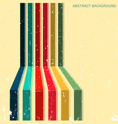 Vintage background with colored stripes vector
